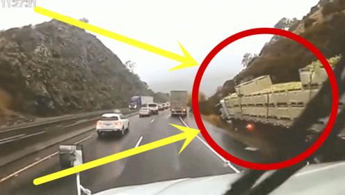 """大货车司机一看情况不对,果断作出惊天举动,这技术太""""牛""""了!"""