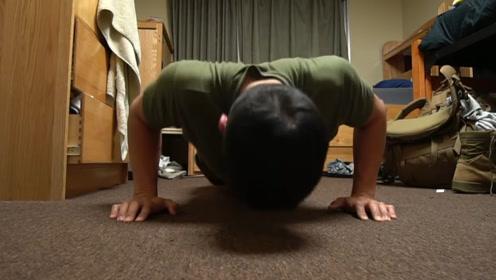 健身大神挑战1000个俯卧撑,刚做完一半多,身体就开始出现异样