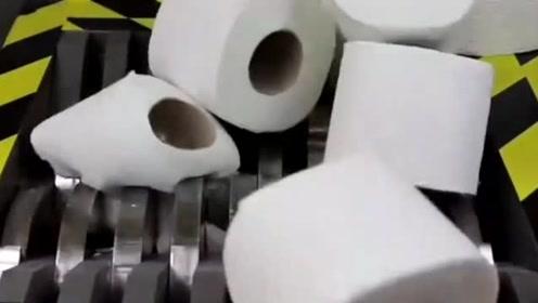 实验,把成卷卫生纸放进粉碎机会怎样?看完整个人瞬间释然了!