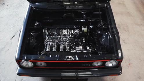老外爆改大众高尔夫,16V的引擎装上去,直接飙废雅马哈!
