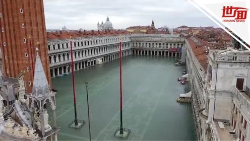 第三次罕见大潮袭击威尼斯 全城被淹水位或涨至160厘米