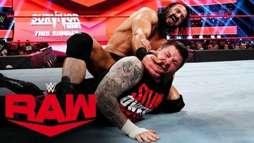 【RAW1382期】欧文斯断头台落空反被麦金泰尔砍刀脚 HHH出场打断