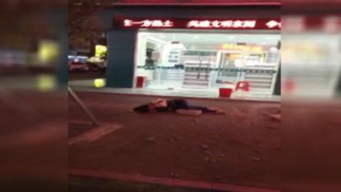 深圳一高楼上掉落砖石,过路女子被砸中头部