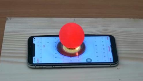 IPhone能逃过1000度的发光金属球吗?老外亲测,好戏才刚刚开始