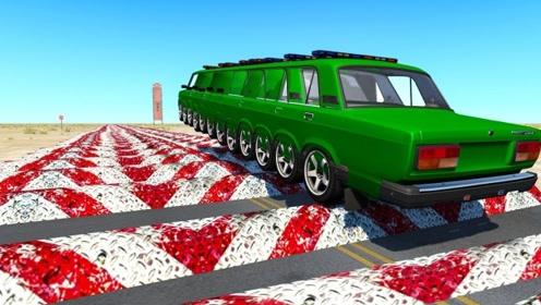 汽车不减速通过500个减速带会发生什么? 老外用电脑模拟,场面震撼