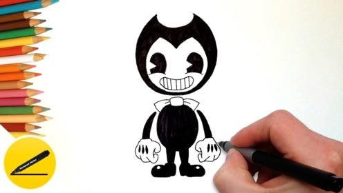 手工:一支笔绘制可爱的墨水班迪,学会了吗?