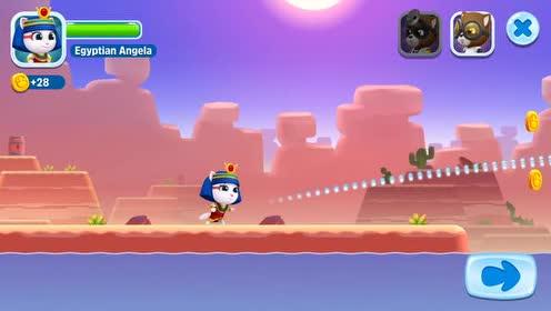 好玩的游戏:安吉拉猫发出的炮弹会变身!浣熊无处躲藏!