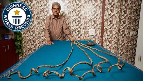 老人留了66年的指甲,打破世界纪录后将其剪掉,结果意外发生了