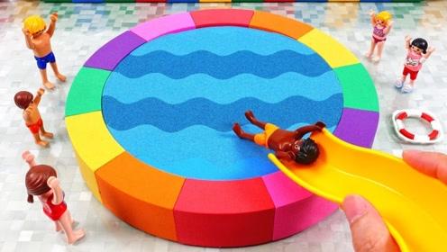 牛人用太空沙自制游泳池,成品效果惊艳,网友:看完感觉有点治愈