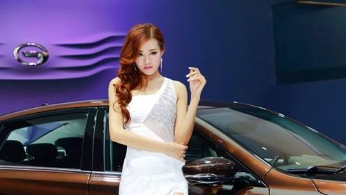 广汽传祺车模超美,大长腿女神鱼贯而出,瞬间吸引众人眼光!