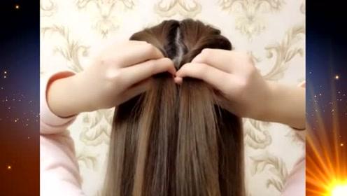这样的扎发发型,简单洋气又时髦感十足,你会扎吗