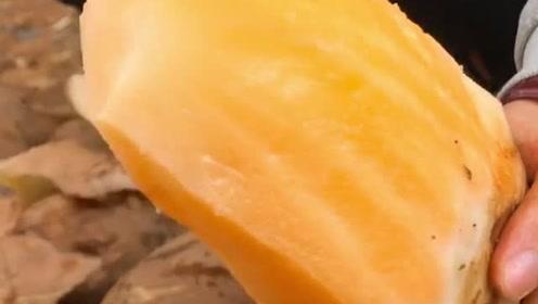 最近的网红美味,长得好像红薯,削皮直接吃最过瘾