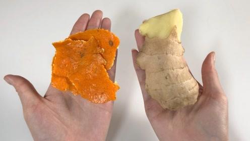 橘子皮加生姜泡水,作用太棒了,解决了不少人的烦恼,省钱又实用