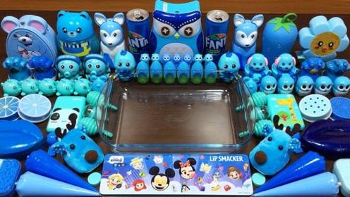 创意随心玩:蓝色蛋糕泥 彩泥史莱姆放松玩玩
