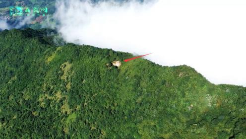 不可思议!无人机拍到1座壮观的气派墓穴,看地形想必不一般吧?