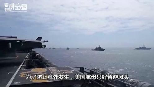 美航母刚抵达海峡,大批导弹升空回应,美下令放弃自由航行