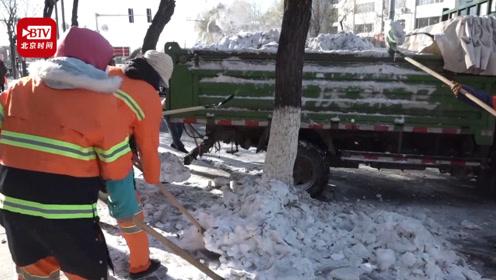 以雪为令!人机配合快速清理积雪 恢复城区环境整洁