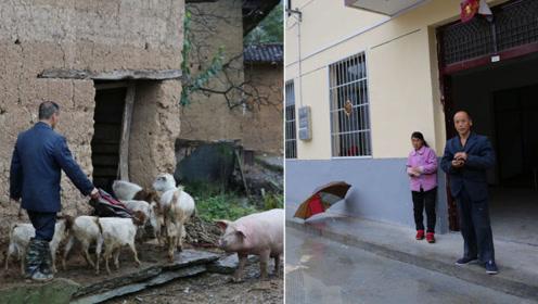 男子精心呵护小他16岁的精神病妻子,儿女聪明伶俐,靠养羊脱贫