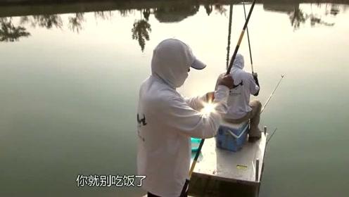 钓友用上钩加下钩的组合,有效地解决了鱼口不好的问题
