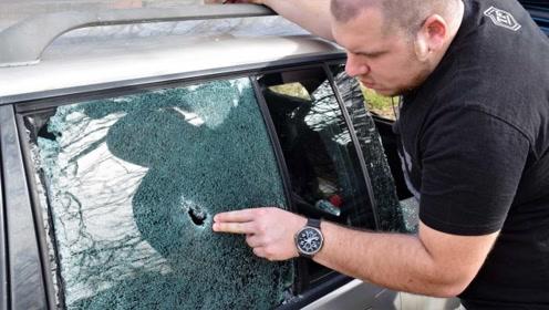 用手指能敲破汽车玻璃吗?看完原理后觉得还石头厉害!