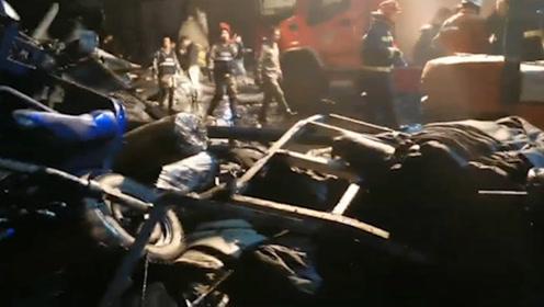 浙江海宁一印染厂发生污水罐体坍塌事故 致4死16伤