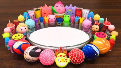 DIY史莱姆教程,可爱卡通水晶泥遇见气球小饰品、洞洞压力球