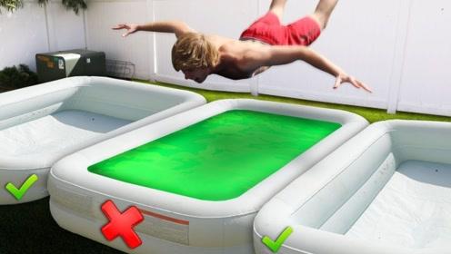 挑战未知游戏,哪个泳池是安全的?选错下场简直太惨了!