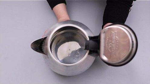 不管水壶水垢有多厚,水壶里倒一点,水垢自动脱落,看完又学一招
