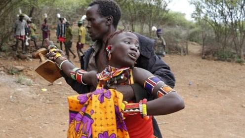 非洲最野蛮的部落!新娘直接被抢走,游客见了却不敢帮忙