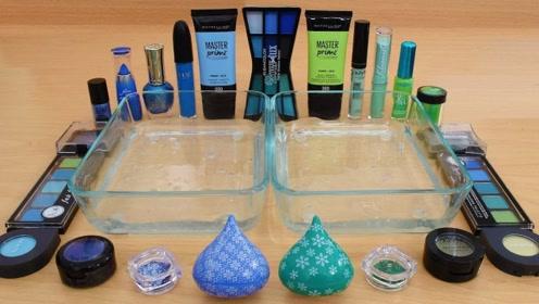 小姐姐用蓝色与绿色化妆品给透泰染色,无硼砂,你喜欢哪一个