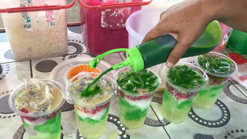 印度人爱喝的街头饮料:水果冰!咬一口Q弹顺滑,一口气吃光超爽