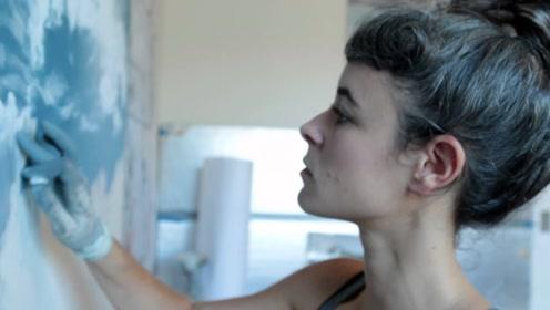 美女用手指作画,每一幅都极具创意,太厉害了