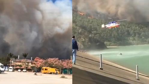广东佛山山火已持续22小时未熄灭:上千人扑救 直升机出动