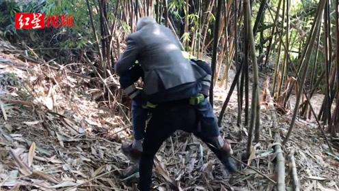 八旬老人迷路陡坡险些坠落  执勤民警快速攀爬将其救下