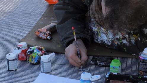 人人嫌弃的地面口香糖,在他手上变成可爱的艺术品 !