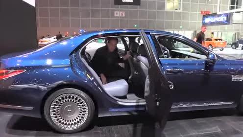 外媒评价2020 款Genesis G90的前排座舱