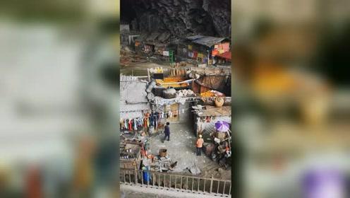 """贵州一山洞藏着个""""世外桃源"""",18户人家70多人过着惬意生活"""