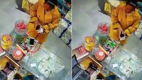 """智商堪忧!女贼偷手机被拍 为证""""清白""""自投罗网"""