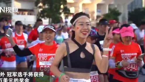 2小时9分!中国选手董国建破纪录,获得破赛会纪录奖金1万美金