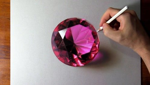 眼前如此逼真的红宝石,竟然是用彩色铅笔绘制的,一起见识下!