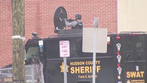 枪声不断!美国泽西城爆发警匪枪战 致6人不幸死亡