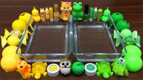 DIY史莱姆教程,不同颜色的化妆品、史莱姆材料捏无硼砂泡泡泥
