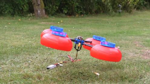牛人用塑料制作无人机螺旋桨,以为是模型,没想到起飞后这么给力