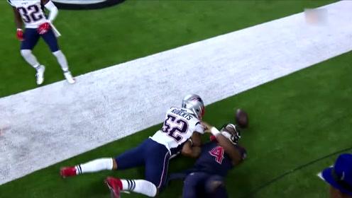 NFL橄榄球:德州人队员精彩互传令对手眼花缭乱,四分卫带球极限达阵!