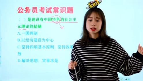 公务员考试常识题:建设有中国特色的社会主义理论的精髓是什么?