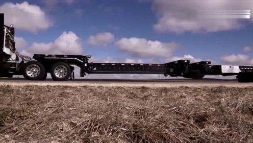 这是我见过最高级的大货车,底盘竟然可以随意变换长度,厉害了!