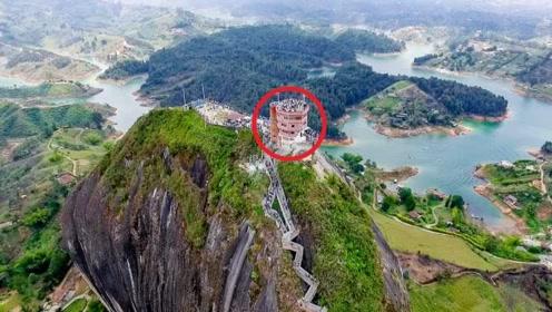 世界上最难回的家 建在200米的岩石上 回一趟家要爬一次山!