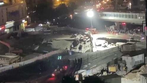突发!厦门吕厝地铁站附近发生地陷,疑似有车辆陷落