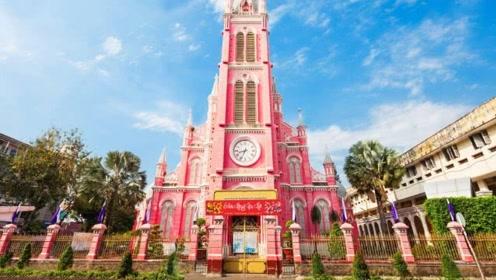 """越南有一座""""粉色教堂"""",就像是女生的房间,充满了浪漫感!"""