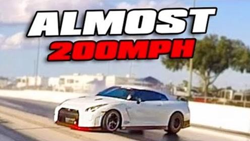 时速300公里失控撞向隔离带后,才知道GTR赛车有多结实?